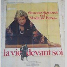 Cine: ANTIGUO CARTEL DE CINE FRANCES. LA VIE DEVANT SOI,SIMONE SIGNORET..GRAN TAMAÑO.. Lote 197190098