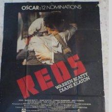 Cine: ANTIGUO CARTEL DE CINE FRANCES.REDS.12 NOMINACIONES A LOS OSCAR.WARREN BEATY.DIANE KEATON.. Lote 197191271