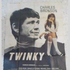 Cine: ANTIGUO CARTEL DE CINE FRANCES.TWINKY.CHARLES BRONSON.GRAN TAMAÑO.. Lote 197192790