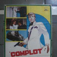 Cine: CDO 680 COMPLOT ROGER MOORE MARTHA HYER POSTER ORIGINAL 70X100 ESTRENO. Lote 197331472