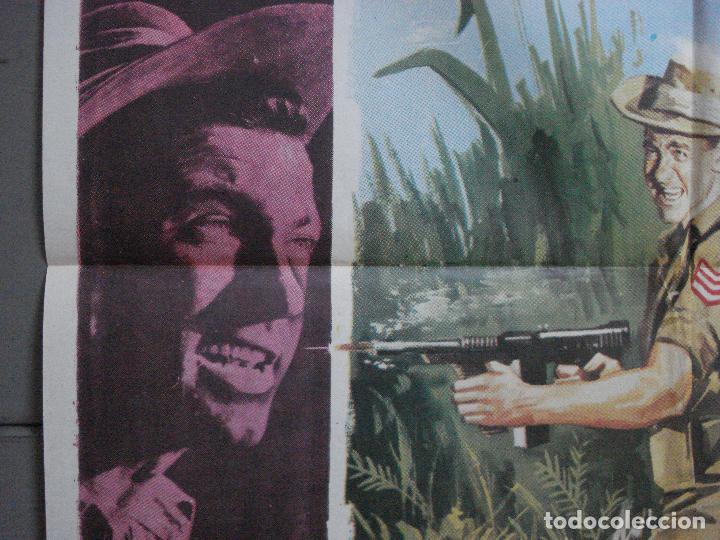 Cine: CDO 699 EMBOSCADA EN LA JUNGLA RICHARD TODD LAURENCE HARVEY HARRIS POSTER ORIGINAL 70X100 ESTRENO - Foto 4 - 197345801