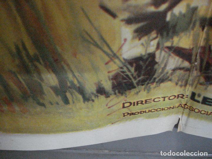 Cine: CDO 699 EMBOSCADA EN LA JUNGLA RICHARD TODD LAURENCE HARVEY HARRIS POSTER ORIGINAL 70X100 ESTRENO - Foto 7 - 197345801
