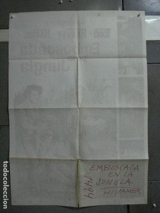 Cine: CDO 699 EMBOSCADA EN LA JUNGLA RICHARD TODD LAURENCE HARVEY HARRIS POSTER ORIGINAL 70X100 ESTRENO - Foto 10 - 197345801