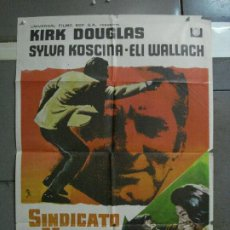 Cine: CDO 703 SINDICATO DE ASESINOS KIRK DOUGLAS SYLVA KOSCINA MCP POSTER ORIGINAL 70X100 ESTRENO. Lote 197348888