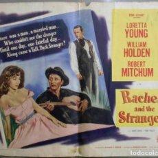 Cine: XL85D VUELVE A AMANECER LORETTA YOUNG WILLIAM HOLDEN ROBERT MITCHUM POSTER ORIGINAL AMERICANO 55X70. Lote 197363068