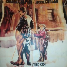 Cine: CARTEL LIT.ORTEGA EL CHICO THE KID CHARLES CHAPLIN JACKIE COOGAN CHARLOT LITOGRAFICO ACARTONADO UNI. Lote 197372196
