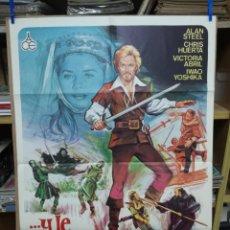 Cinéma: CARTEL DE CINE- MOVIE POSTER ...Y LE LLAMABAN ROBIN HOOD, 1976 70X100 CM. JANO. Lote 197408430