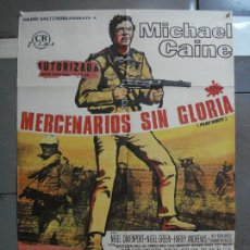 Cine: CDO 709 MERCENARIOS SIN GLORIA MICHAEL CAINE POSTER ORIGINAL 70X100 ESTRENO. Lote 197418635