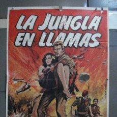 Cine: CDO 713 LA JUNGLA EN LLAMAS MARSHALL THOMPSON VIETNAM POSTER ORIGINAL 70X100 ESTRENO. Lote 197420342