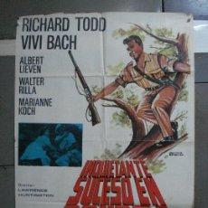Cinéma: CDO 726 INQUIETANTE SUCESO EN GONDRA EDGAR WALLACE RICHARD TODD POSTER ORIGINAL 70X100 ESTRENO. Lote 197430596