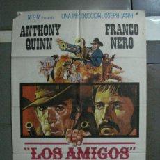 Cine: CDO 728 LOS AMIGOS FRANCO NERO ANTHONY QUINN SPAGHETTI POSTER ORIGINAL 70X100 ESTRENO. Lote 197431440