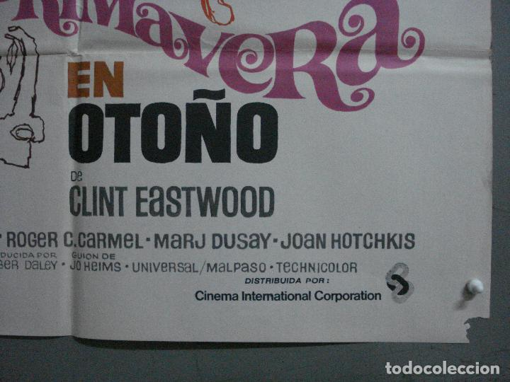 Cine: CDO 744 PRIMAVERA EN OTOÑO CLINT EASTWOOD WILLIAN HOLDEN POSTER ORIGINAL 70X100 ESTRENO - Foto 9 - 197432066