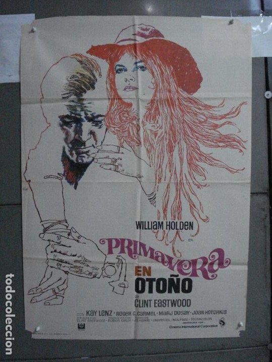 CDO 744 PRIMAVERA EN OTOÑO CLINT EASTWOOD WILLIAN HOLDEN POSTER ORIGINAL 70X100 ESTRENO (Cine- Posters y Carteles - Drama)