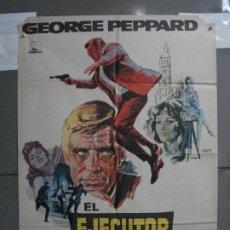 Cine: CDO 735 EL EJECUTOR GEORGE PEPPARD JOAN COLLINS POSTER ORIGINAL 70X100 ESTRENO. Lote 197434111