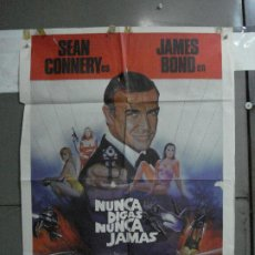 Cine: CDO 746 NUNCA DIGAS NUNCA JAMAS JAMES BOND 007 SEAN CONNERY POSTER ORIGINAL 70X100 ESTRENO. Lote 197435626