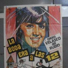 Cine: CDO 749 LA BODA ERA A LAS DOCE CONCHA VELASCO HERMIDA POSTER ORIGINAL 70X100 ESPAÑOL R-70. Lote 197440196