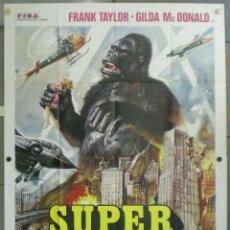 Cine: 2UZ22D EL GORILA ATACA 3-D SUPER KONG POSTER ORIGINAL 140X200 ITALIANO. Lote 197440518