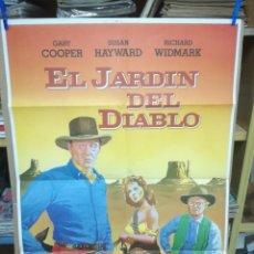 Cine: EL JARDIN DEL DIABLO. CARTEL ORIGINAL DE CINE 70 X 100.. Lote 197519673