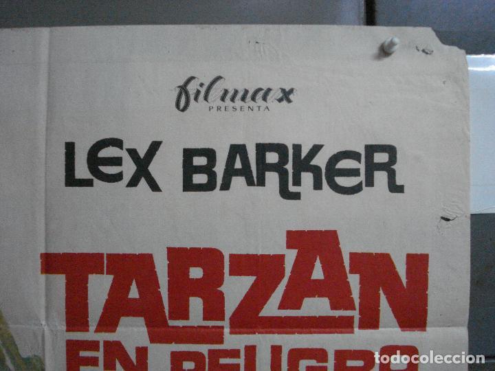 Cine: CDO 791 TARZAN EN PELIGRO LEX BARKER MCP POSTER ORIGINAL 70X100 ESPAÑOL R-73 - Foto 6 - 197547520