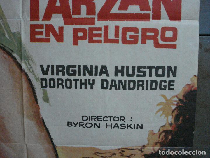 Cine: CDO 791 TARZAN EN PELIGRO LEX BARKER MCP POSTER ORIGINAL 70X100 ESPAÑOL R-73 - Foto 7 - 197547520