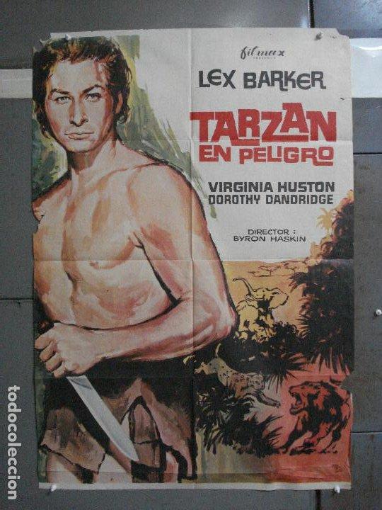 CDO 791 TARZAN EN PELIGRO LEX BARKER MCP POSTER ORIGINAL 70X100 ESPAÑOL R-73 (Cine - Posters y Carteles - Aventura)