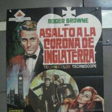 Cine: CDO 809 ASALTO A LA CORONA DE INGLATERRA ARGOMAN ROGER BROWNE POSTER ORIGINAL 70X100 ESTRENO. Lote 197555616