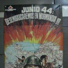 Cine: CDO 813 JUNIO 44 DESEMBARCAREMOS EN NORMANDIA JANO POSTER ORIGINAL 70X100 ESTRENO. Lote 197614938