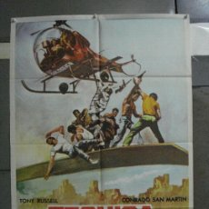 Cine: CDO 815 TECNICA DE UN ESPIA TONY RUSSEL ERIKA BLANK POSTER ORIGINAL ESTRENO 70X100. Lote 197616032