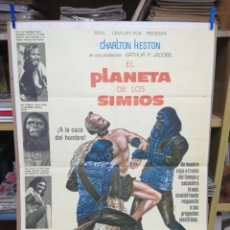 Cine: CARTEL DE CINE EL PLANETA DE LOS SIMIOS. CHARLTON HESTON.. Lote 197621855