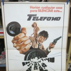 Cine: CARTEL CINE, TELEFONO, CHARLES BRONSON, LEE REMICK - AÑO 1978 POSTER ORIGINAL 100X70. Lote 197622307