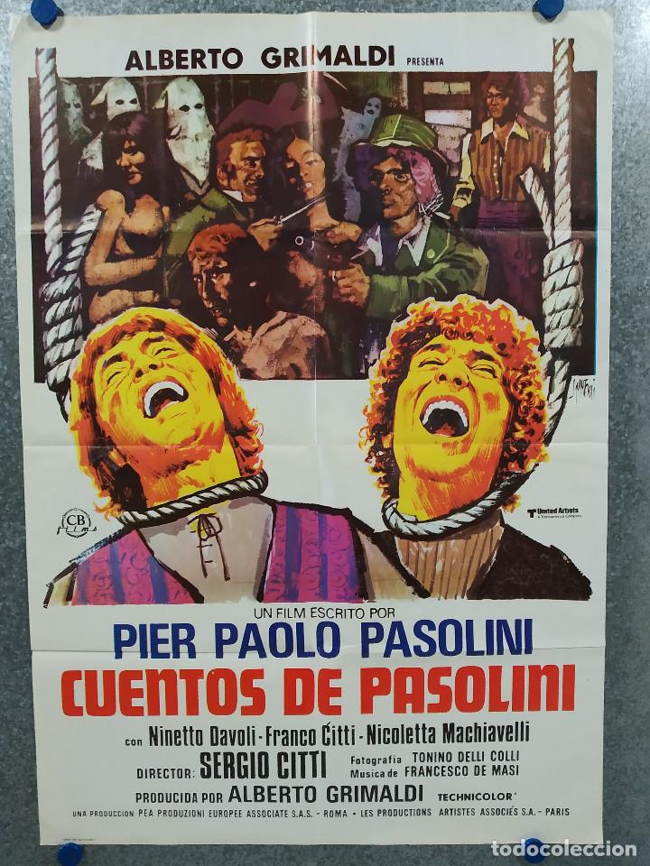 CUENTOS DE PASOLINI. SILVANO GATTI, ENZO PETRIGLIA. AÑO 1977. POSTER ORIGINAL (Cine- Posters y Carteles - Drama)