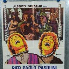 Cine: CUENTOS DE PASOLINI. SILVANO GATTI, ENZO PETRIGLIA. AÑO 1977. POSTER ORIGINAL. Lote 197764923