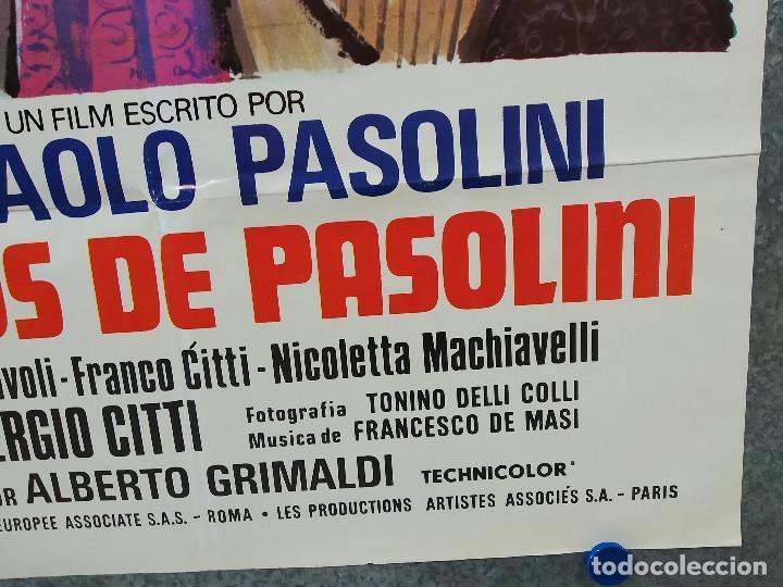 Cine: Cuentos de Pasolini. Silvano Gatti, Enzo Petriglia. AÑO 1977. POSTER ORIGINAL - Foto 5 - 197764923