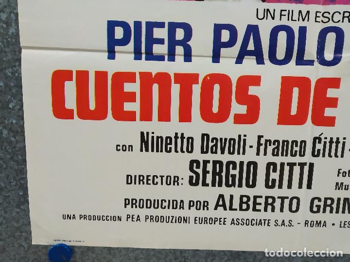 Cine: Cuentos de Pasolini. Silvano Gatti, Enzo Petriglia. AÑO 1977. POSTER ORIGINAL - Foto 6 - 197764923