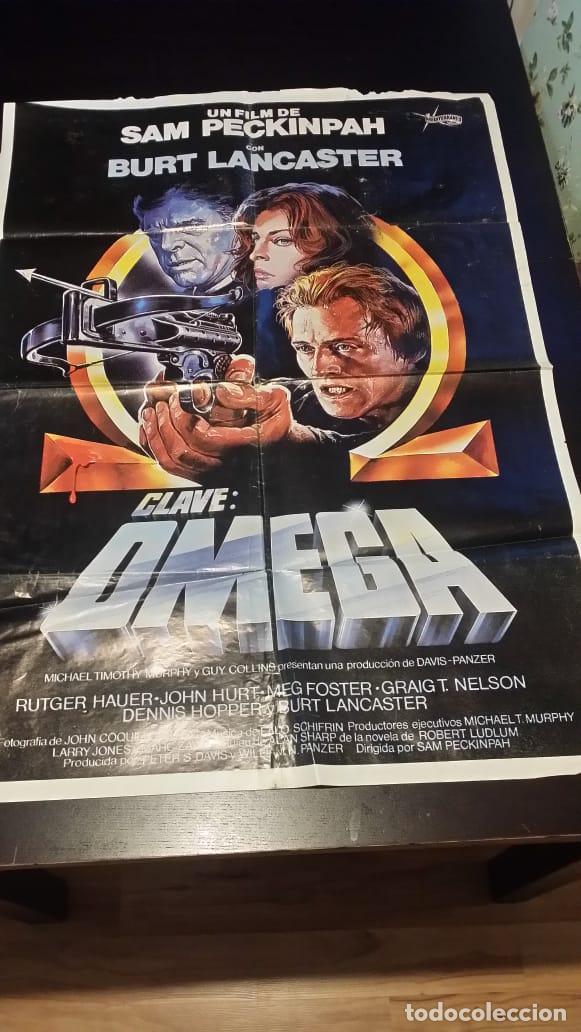 JML CARTEL CINE CLAVE OMEGA SAM PECKINPAH RUTGER HAUER BURT LANCASTER CASARO POSTER ORIGINAL 70X10 (Cine - Posters y Carteles - Acción)