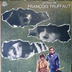 Cine: EL PEQUEÑO SALVAJE. POSTER ORIGINAL. FRANCOIS TRUFFAUT. Lote 219878090