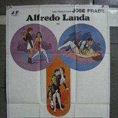 Cine: CDO 827 POLVOS MAGICOS ALFREDO LANDA JOSE LARRAZ POSTER ORIGINAL 70X100 ESTRENO. Lote 198093457
