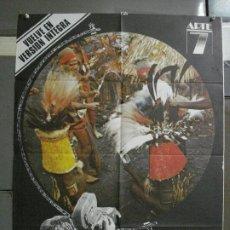 Cine: CDO 842 MONDO CANE ESTE PERRO MUNDO CAVARA JACOPETI TRASH POSTER ORIGINAL 70X100 ESPAÑOL R-82. Lote 198115161