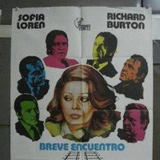 Cine: CDO 858 BREVE ENCUENTRO ELIZABETH TAYLOR RICHARD BURTON POSTER ORIGINAL 70X100 ESTRENO. Lote 198116486