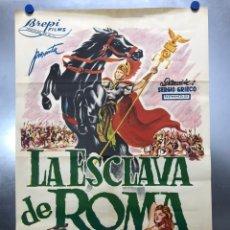 Cinéma: LA ESCLAVA DE ROMA - ROSSANA PODESTA, GUY MADISON, MARIO PETRI - LITOGRAFIA. Lote 198127091