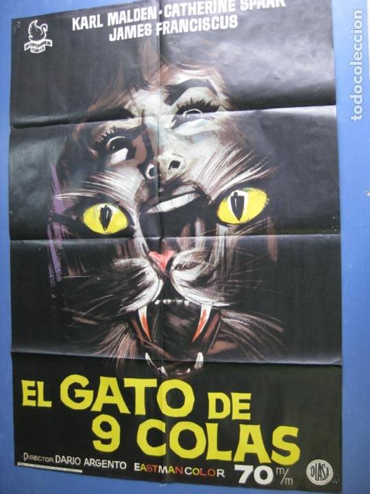 Cine: EL GATO DE 9 COLAS - DIRECTOR DARIO ARGENTO - 1971 - Foto 2 - 198191310