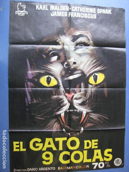 EL GATO DE 9 COLAS - DIRECTOR DARIO ARGENTO - 1971 (Cine - Posters y Carteles - Terror)