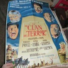 Cine: EL CLAN DEL TERROR CARTEL DE CINE. Lote 198194743