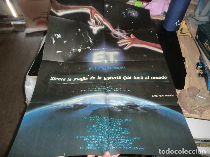 CARTEL DE E.T EL EXTRATERRESTREGRAN TAMAÑO (Cine - Posters y Carteles - Ciencia Ficción)