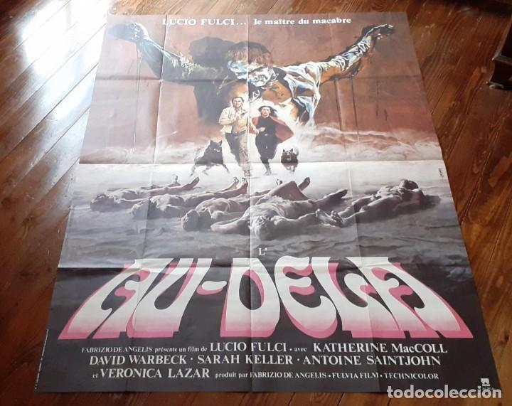 THE BEYOND (EL MÁS ALLÁ) LUCIO FULCI CARTEL GIGANTE ORIGINAL ESTRENO FRANCÉS 1983 NO REPRO RARO! (Cine - Posters y Carteles - Terror)