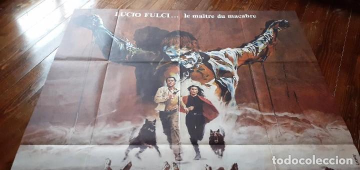 Cine: THE BEYOND (EL MÁS ALLÁ) LUCIO FULCI cartel GIGANTE original estreno FRANCÉS 1983 NO REPRO RARO! - Foto 2 - 198197807