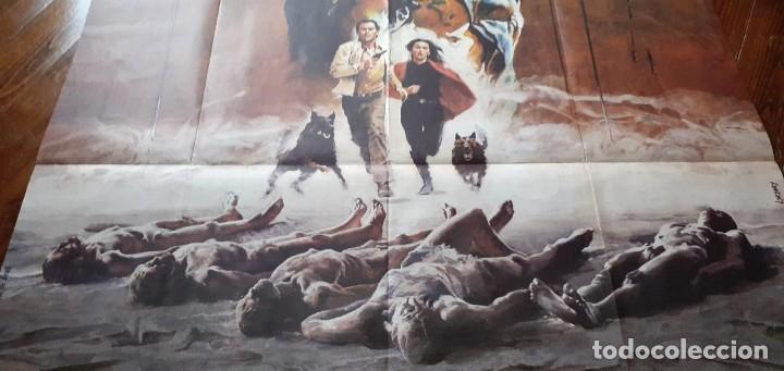 Cine: THE BEYOND (EL MÁS ALLÁ) LUCIO FULCI cartel GIGANTE original estreno FRANCÉS 1983 NO REPRO RARO! - Foto 3 - 198197807