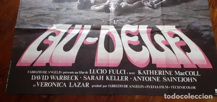 Cine: THE BEYOND (EL MÁS ALLÁ) LUCIO FULCI cartel GIGANTE original estreno FRANCÉS 1983 NO REPRO RARO! - Foto 4 - 198197807