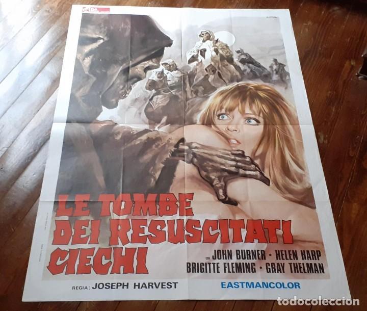 LA NOCHE DEL TERROR CIEGO (THE BLIND DEAD) AMANDO DE OSSORIO CARTEL ORIG ITALIANO 1973 NO REPRO (Cine - Posters y Carteles - Terror)