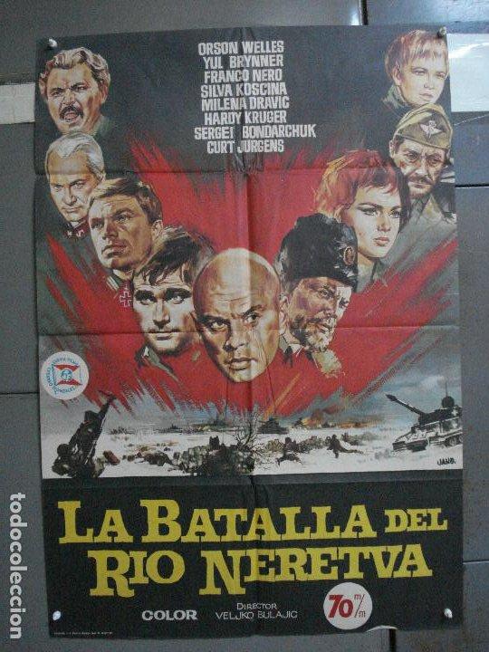 CDO 896 LA BATALLA DEL RIO NERETVA YUL BRYNNER CURD JURGENS JANO POSTER ORIGINAL 70X100 ESTRENO (Cine - Posters y Carteles - Bélicas)